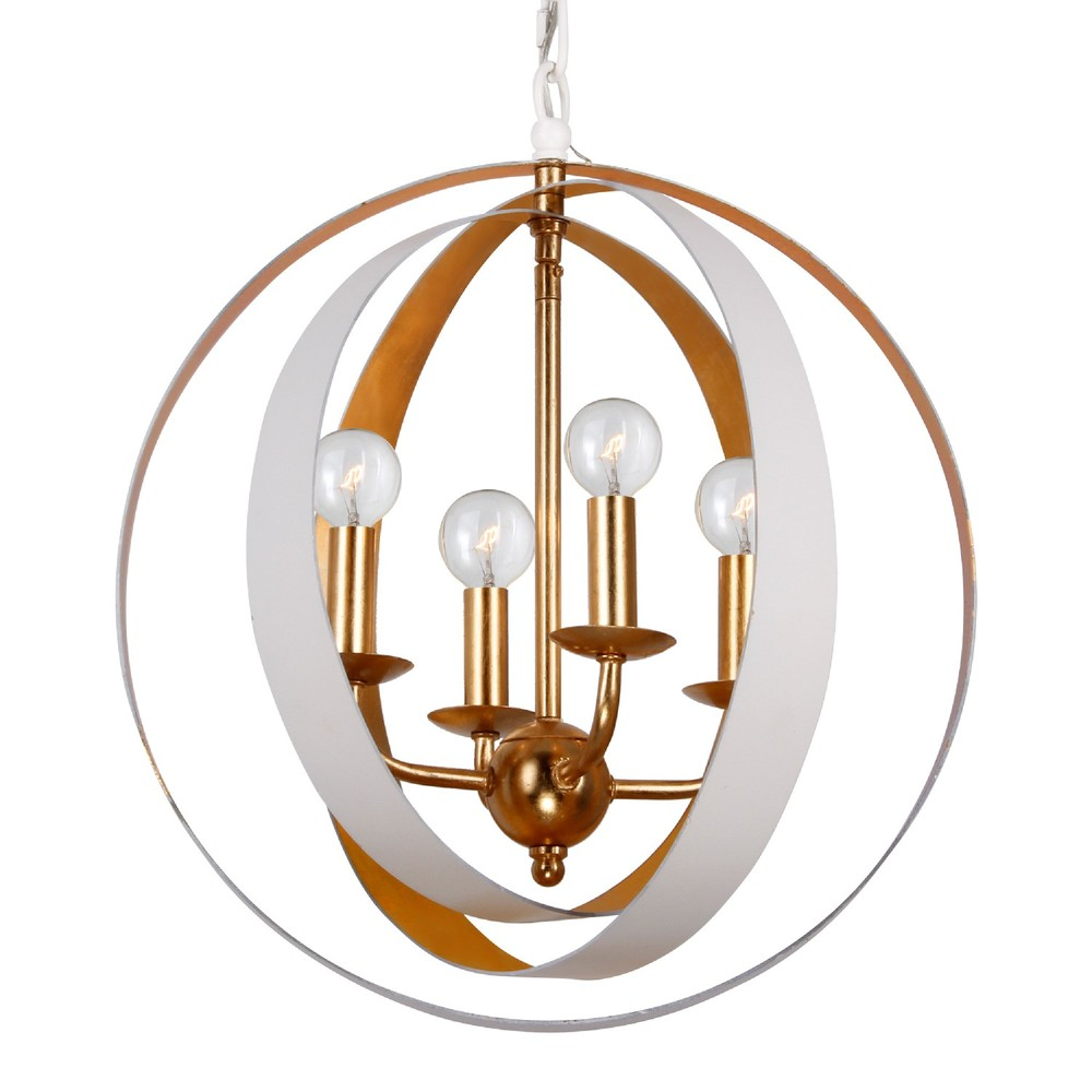 King electric crystorama luna 4 light white gold sphere mini chandelier arubaitofo Images