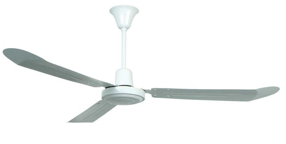 "Utility 56"" Ceiling Fan with Blades in White"