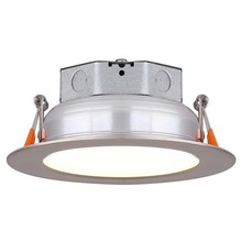 "Canarm LED-SR4P-BN-C - LED Recess Downlight,  LED-SR4P-BN-C, 4"" Brushed Nickel Trim, Acrylic lens, 10W Dimmable, 3000K,"