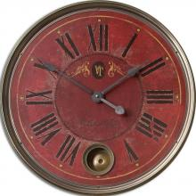 "Uttermost 06037 - Uttermost Regency Villa Tesio 23"" Red Wall Clock"